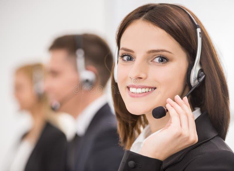 Centre d'attention téléphonique images stock