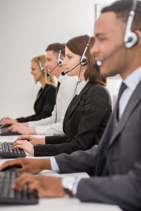 Centre d'attention téléphonique images libres de droits