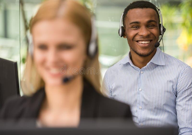 Centre d'attention téléphonique image stock