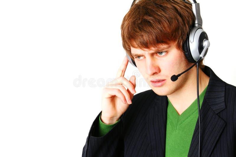 Centre d'attention téléphonique d'opérateur images libres de droits