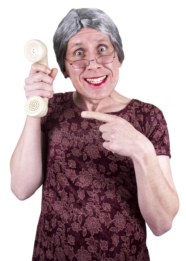 Centre d'attention téléphonique laid drôle de femme, ventes, support de technologie image stock