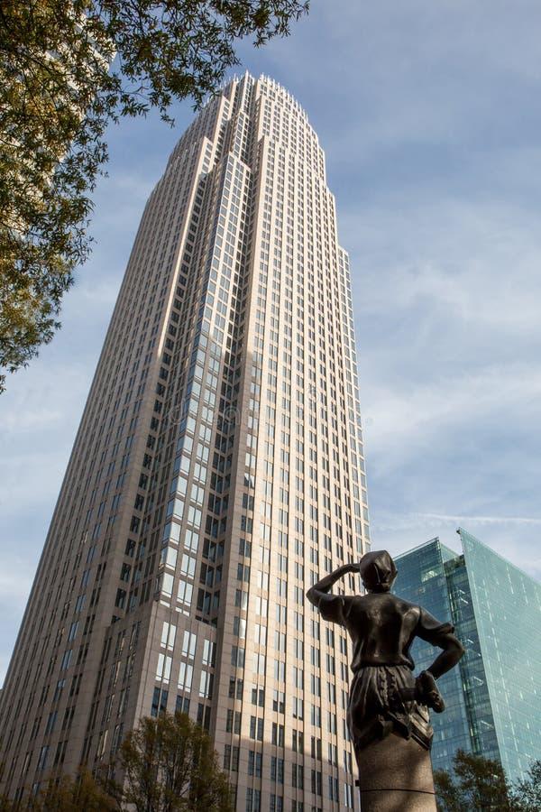 Centre d'entreprise de la Banque d'Amérique images libres de droits