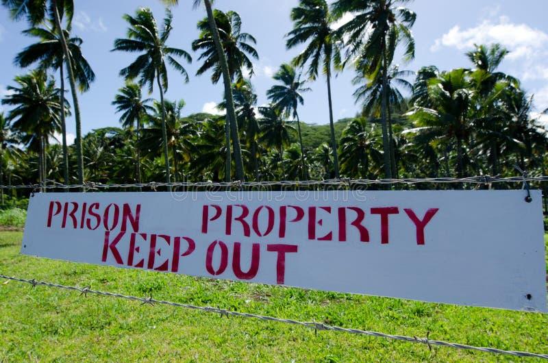 Centre d'Island Prison Rehabilitation de cuisinier dans le cuisinier Islan de Rarotonga photo libre de droits