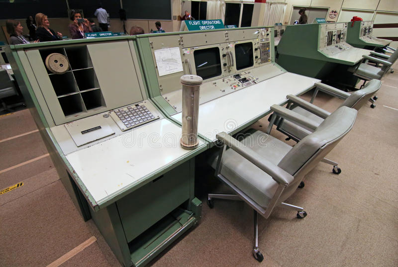 Centre de Centre de contrôle de la mission historique photo stock