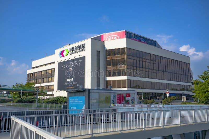 Centre de congrès de Prague, République Tchèque, belle vue image stock