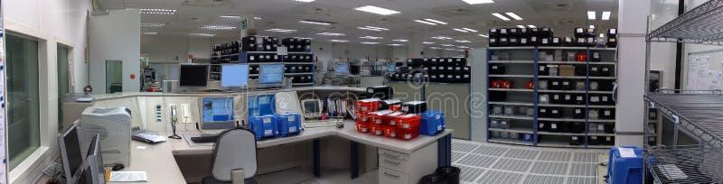 Centre de contrôle de l'usine images stock