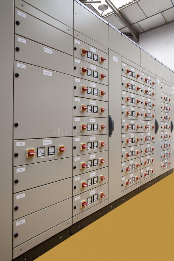 Centre de contrôle vertical de moteurs photo libre de droits