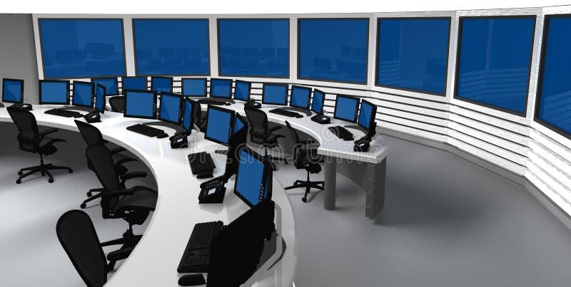 Centre de contrôle de surveillance illustration de vecteur
