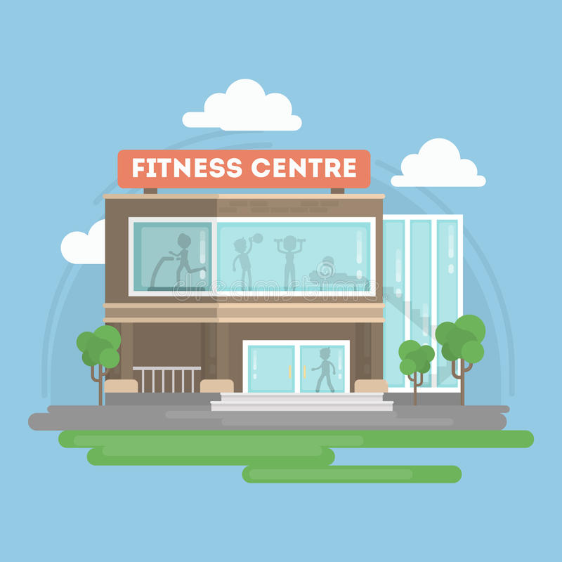 Centre de fitness illustration stock