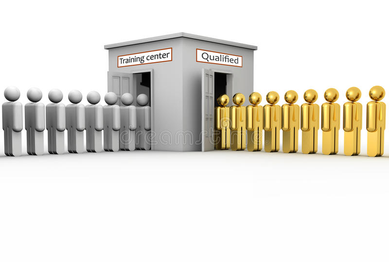 Centre de formation illustration stock