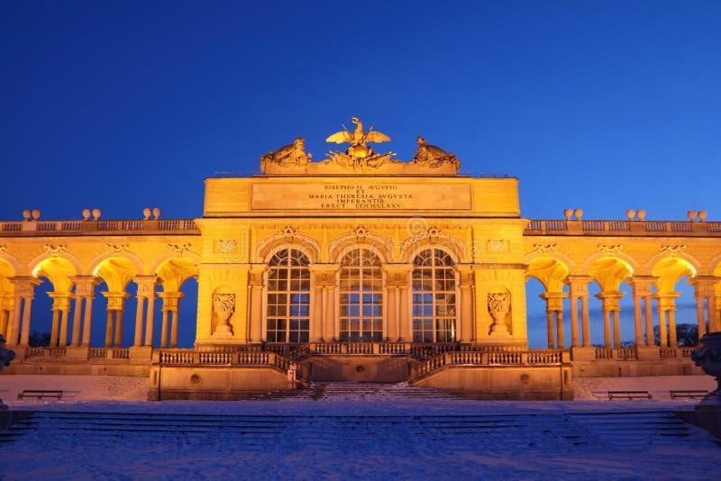 Centre de Glorietta au stationnement de Schonbrunn à l'hiver photos stock