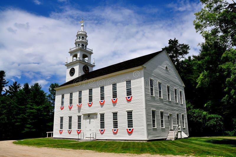 Centre de Jaffrey, NH : Lieu de réunion de 1775 originaux photo stock
