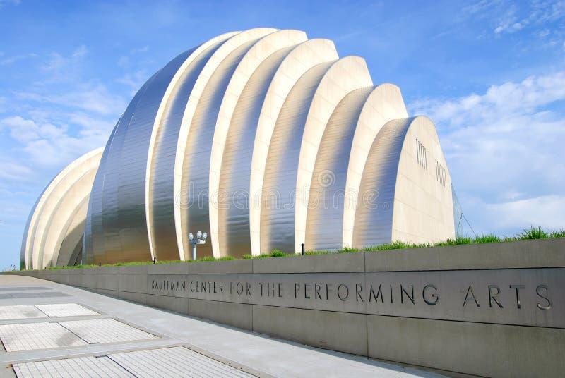 Centre de Kauffman pour les arts du spectacle à Kansas City du centre photographie stock