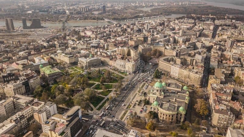 Centre de la ville de Belgrade photos stock