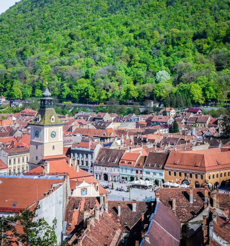 Centre de la ville de Brasov, vieille ville La Roumanie au printemps, été photographie stock