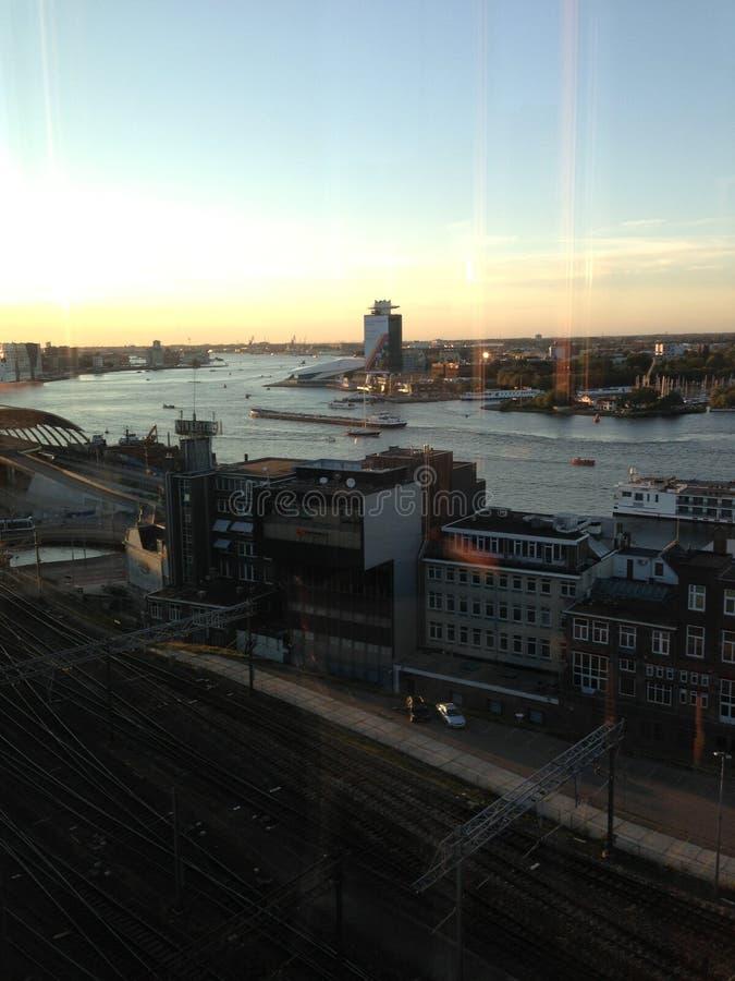 Centre de la ville central de station d'amstel d'Amsterdam photographie stock