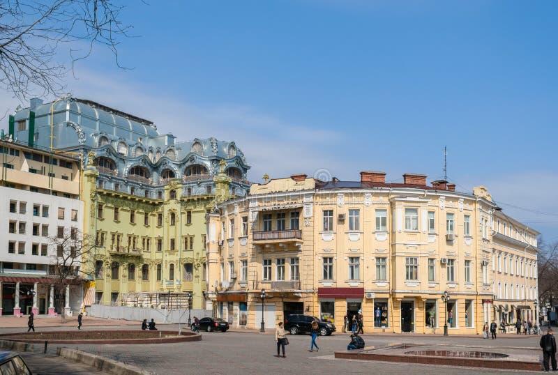 Centre de la ville d'Odessa l'ukraine image stock