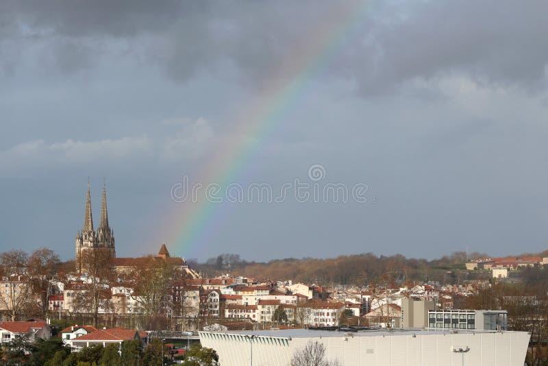 Centre de la ville de Bayonne image stock