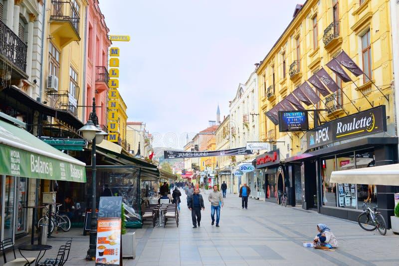Centre de la ville de Bitola, Macédoine photos libres de droits