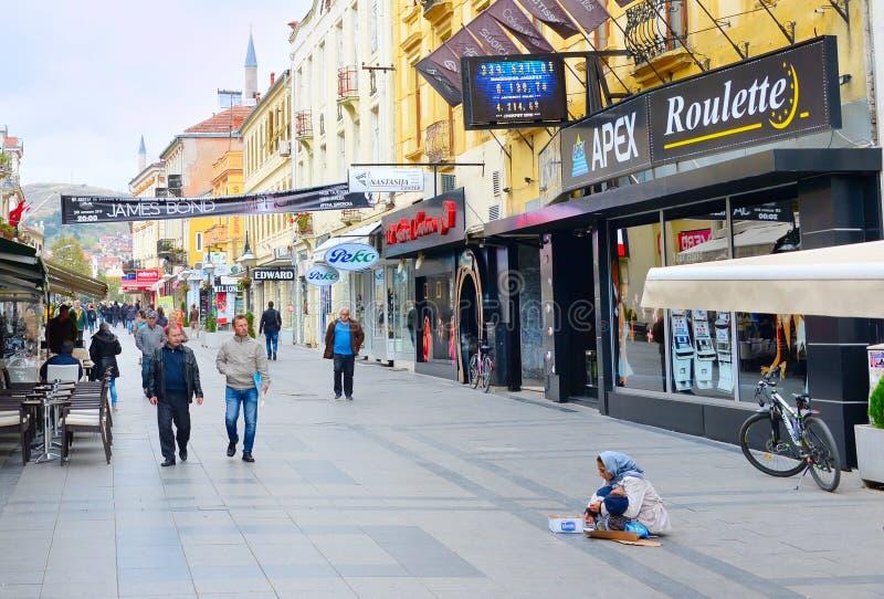 Centre de la ville de Bitola, Macédoine photographie stock