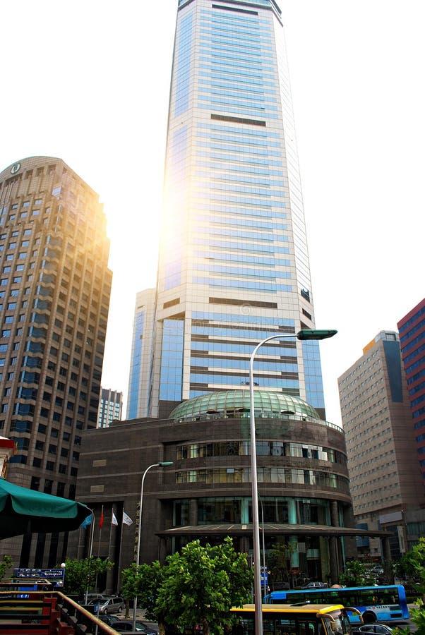 Centre de la ville de Dalian Chine photos stock