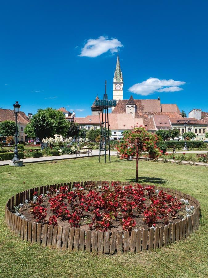Centre de la ville de la Roumanie de médias photos stock
