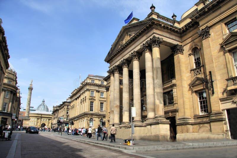 Centre de la ville de Newcastle photo stock