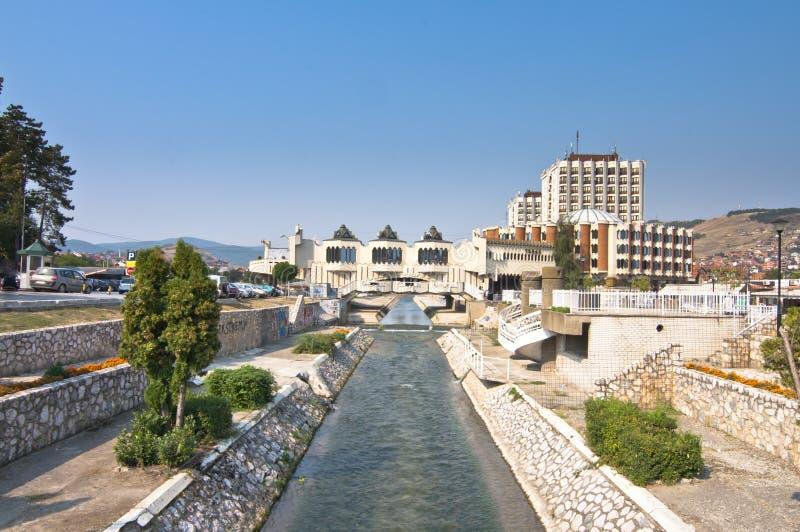 Centre de la ville de Novi Pazar photographie stock