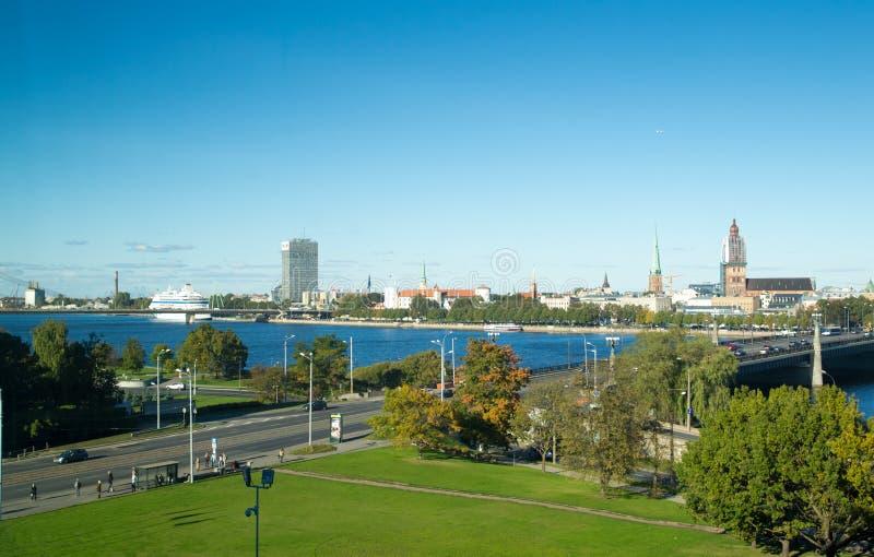 Centre de la ville de Riga image libre de droits