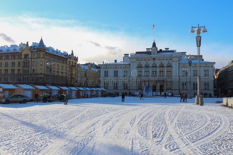 Centre de la ville de Tampere images libres de droits