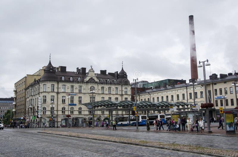 Centre de la ville de Tampere image stock