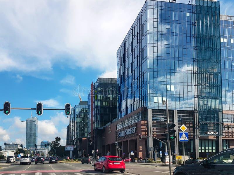 Centre de la ville moderne de Danzig image stock
