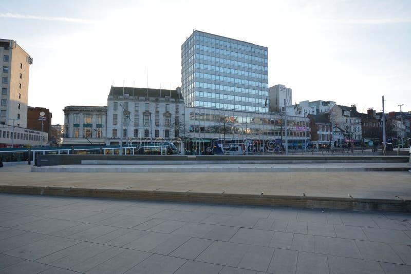 Centre de la ville de Nottingham en Angleterre - Europe photographie stock