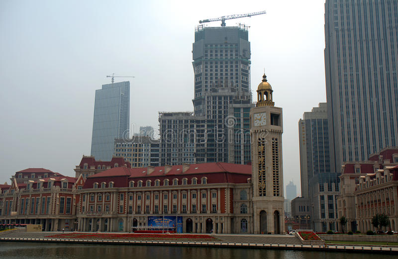 Centre de la ville, Tianjin, Chine photos stock