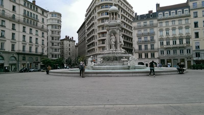 Centre de Lyon images stock