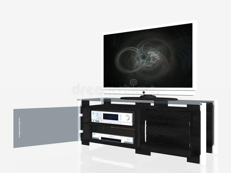 Centre de medias, écran de plasma photographie stock libre de droits
