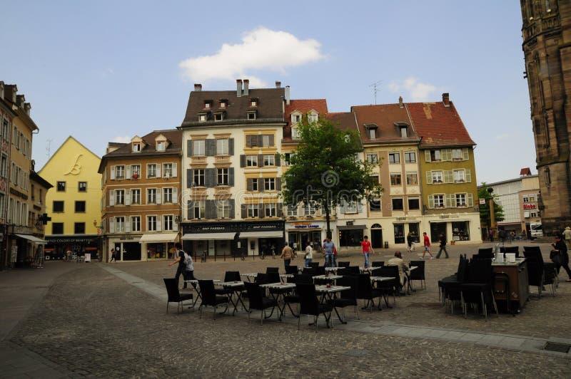 Centre de Mulhouse (France) photographie stock