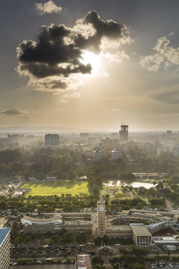 Centre de Nairobi et Uhuru Park, Kenya photo stock