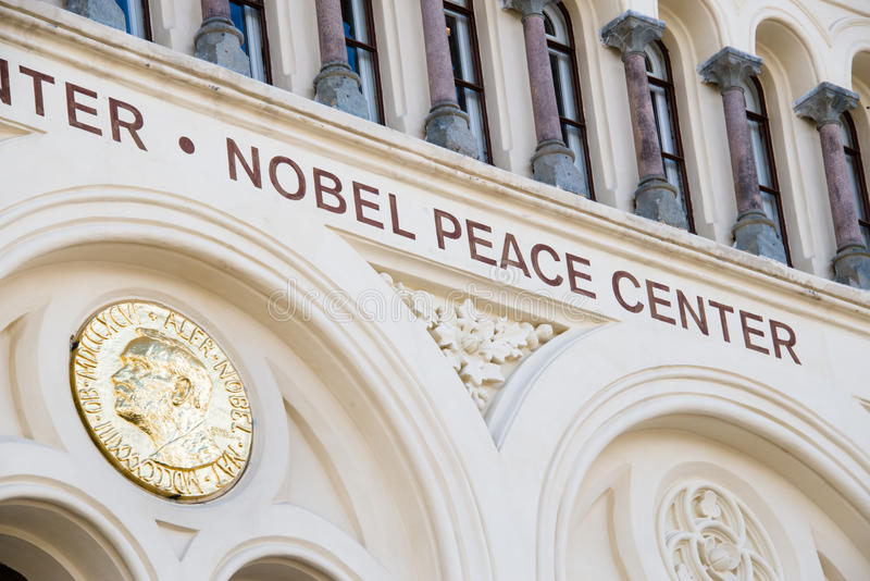 Centre de paix Nobel photographie stock