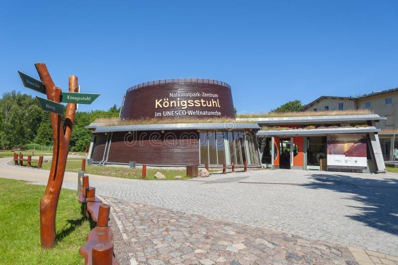 Centre de parc national de Königsstuhl en parc national i de Jasmund photo libre de droits