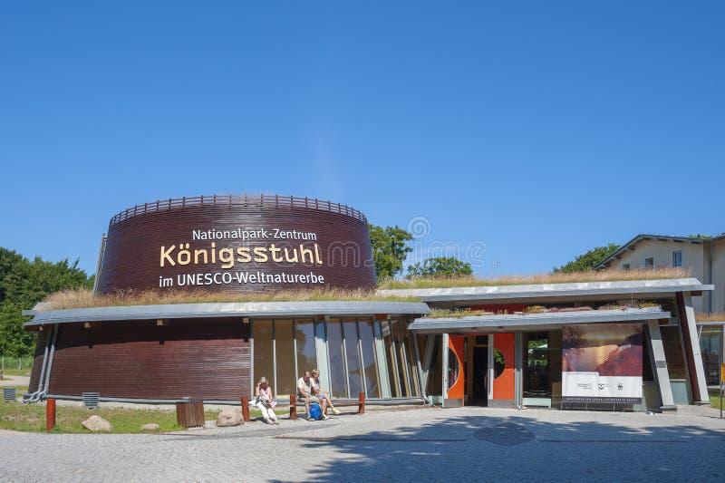 Centre de parc national de Königsstuhl en parc national i de Jasmund images libres de droits