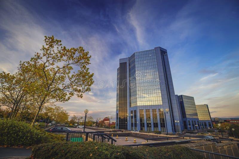 Centre de plaza de Telford en automne photos libres de droits