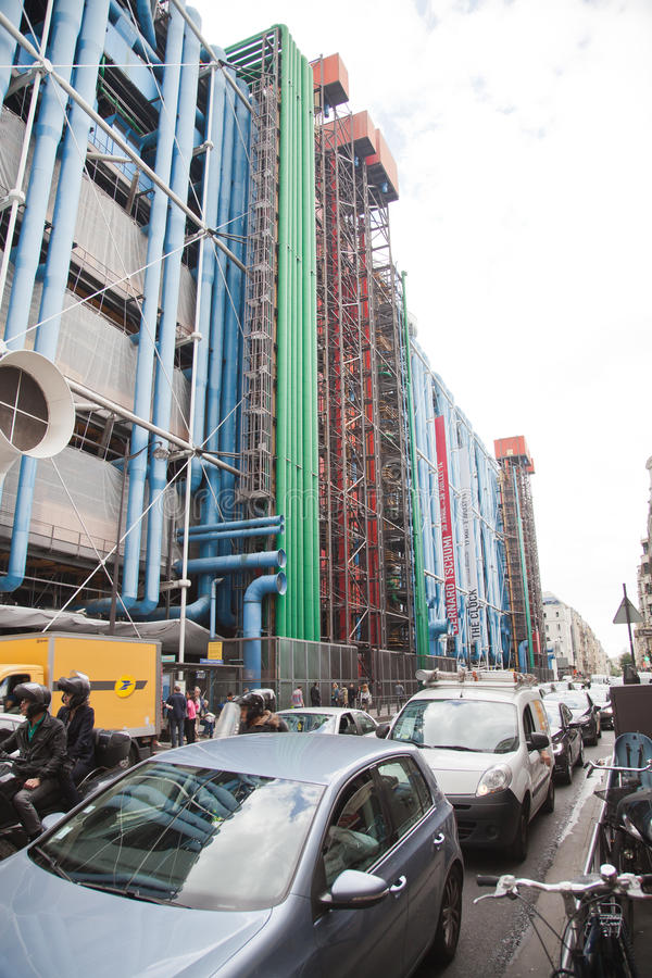 Centre de Pompidou, Paris royalty free stock photography