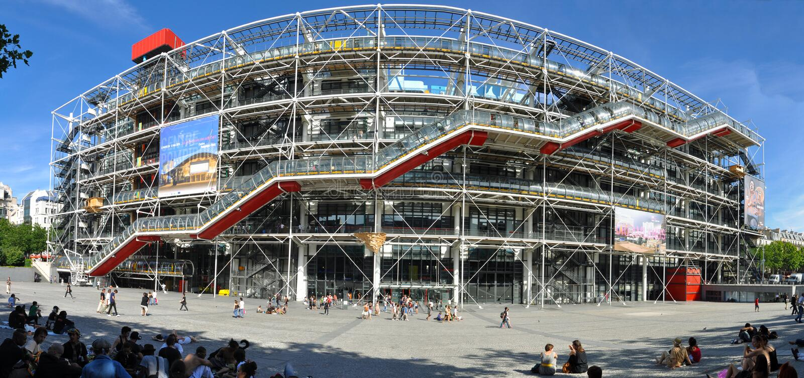 Centre de Pompidou. Paris, France - July 17, 2010:The cultural center and museum, Centre de Pompidou in Paris, France. The place is notable for its unusual stock photos