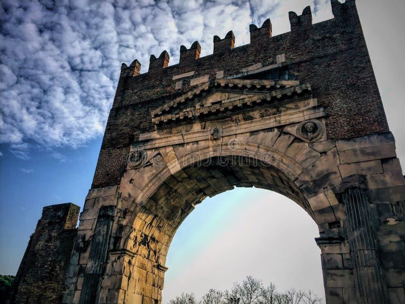 Centre de Rimini image libre de droits