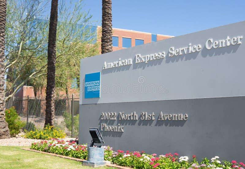 Centre de service d'American Express à Phoenix, Arizona, Etats-Unis images libres de droits