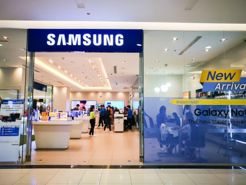 Centre de service de Samsung à un centre commercial photo libre de droits