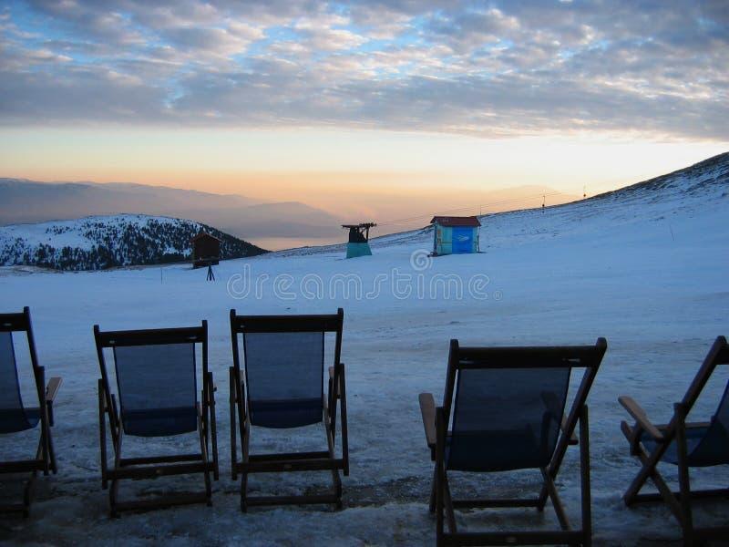 Centre de ski de Kaimaktsalan près d'Edessa Grèce images libres de droits