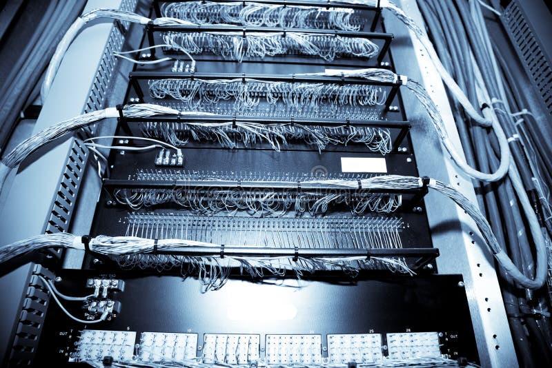 Centre de traitement des données de réseau images stock