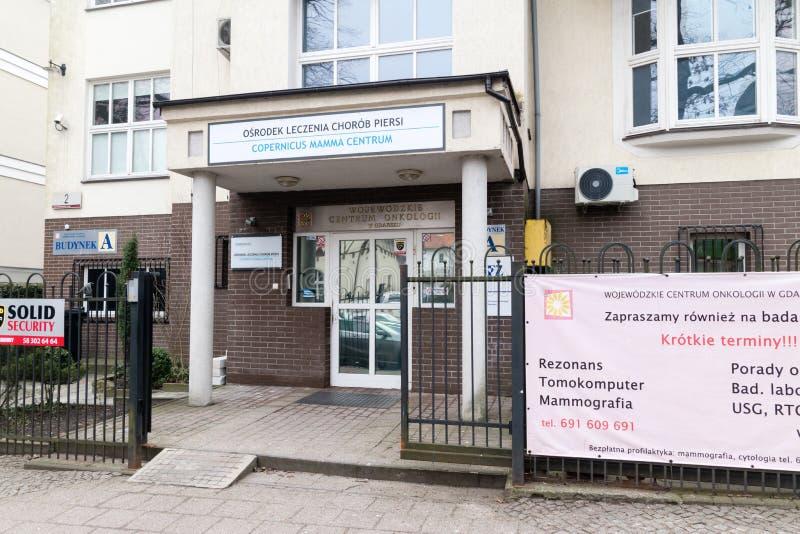 Centre de traitement de sein Centrum de maman de Copernic images libres de droits